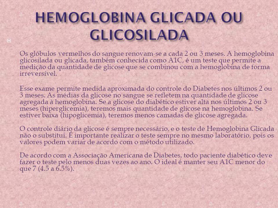 HEMOGLOBINA GLICADA OU GLICOSILADA