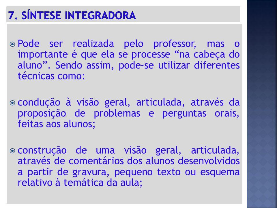 7. SÍNTESE INTEGRADORA