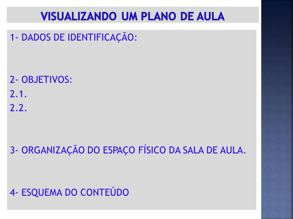 VISUALIZANDO UM PLANO DE AULA