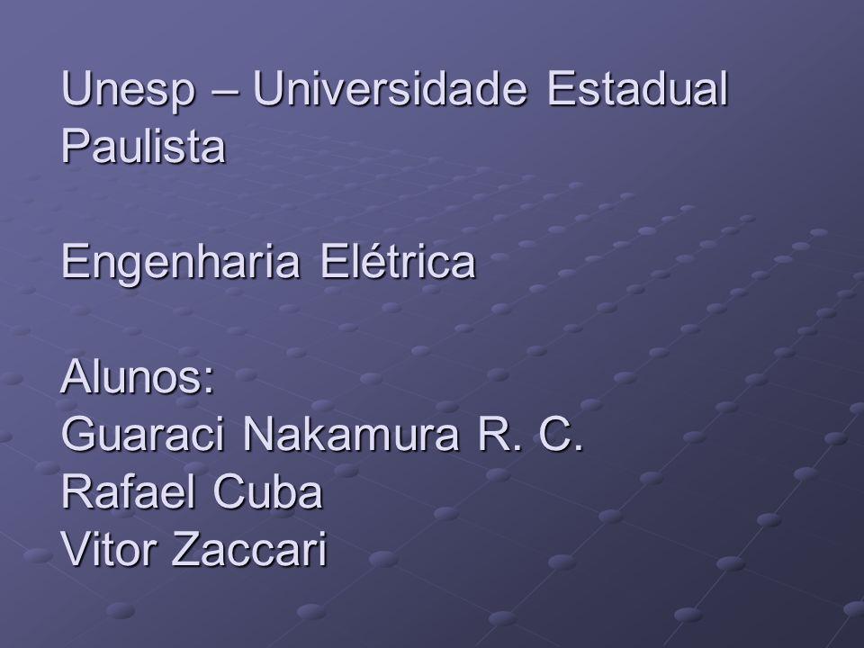 Unesp – Universidade Estadual Paulista Engenharia Elétrica Alunos: Guaraci Nakamura R.