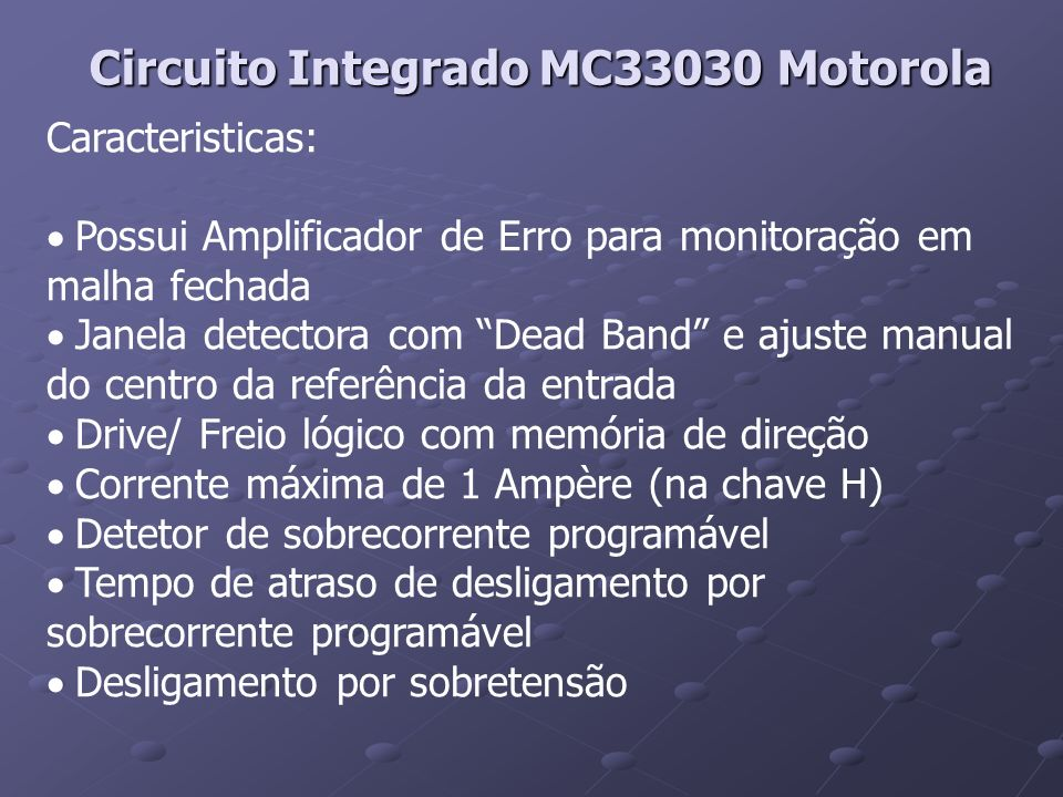 Circuito Integrado MC33030 Motorola