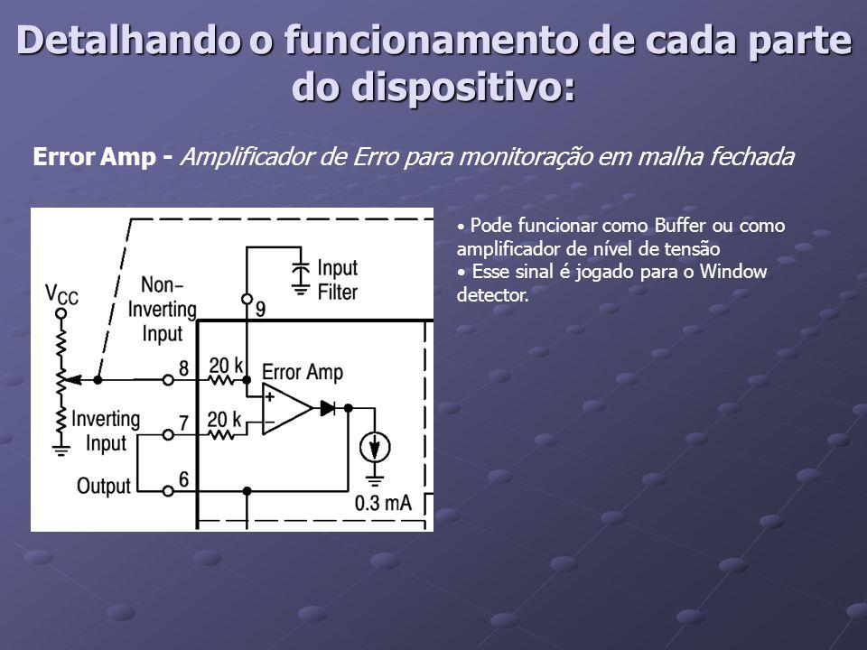 Detalhando o funcionamento de cada parte do dispositivo: