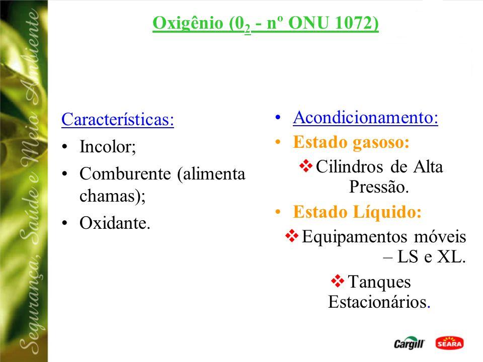 Comburente (alimenta chamas); Oxidante. Acondicionamento:
