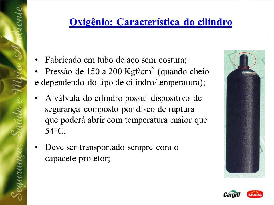 Oxigênio: Característica do cilindro