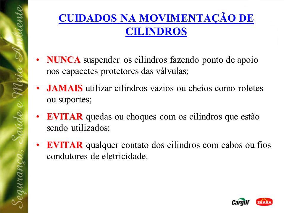 CUIDADOS NA MOVIMENTAÇÃO DE CILINDROS
