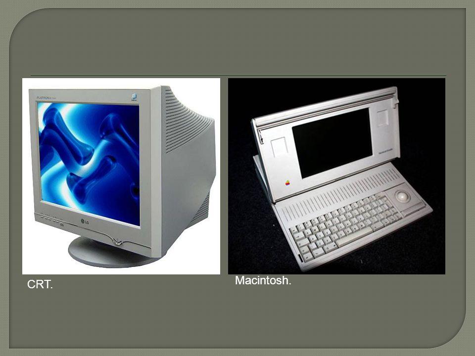 Macintosh. CRT.