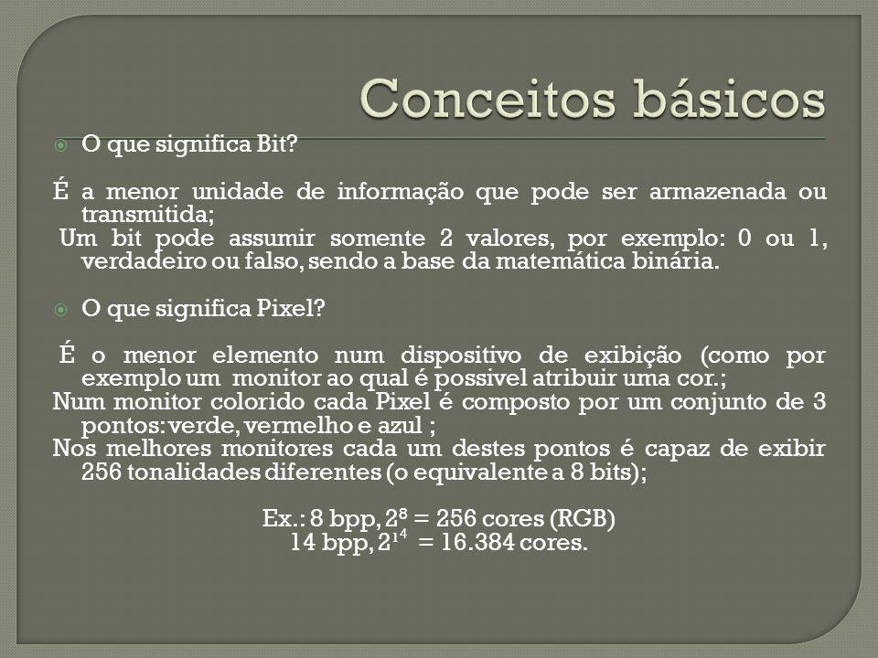 Conceitos básicos O que significa Bit