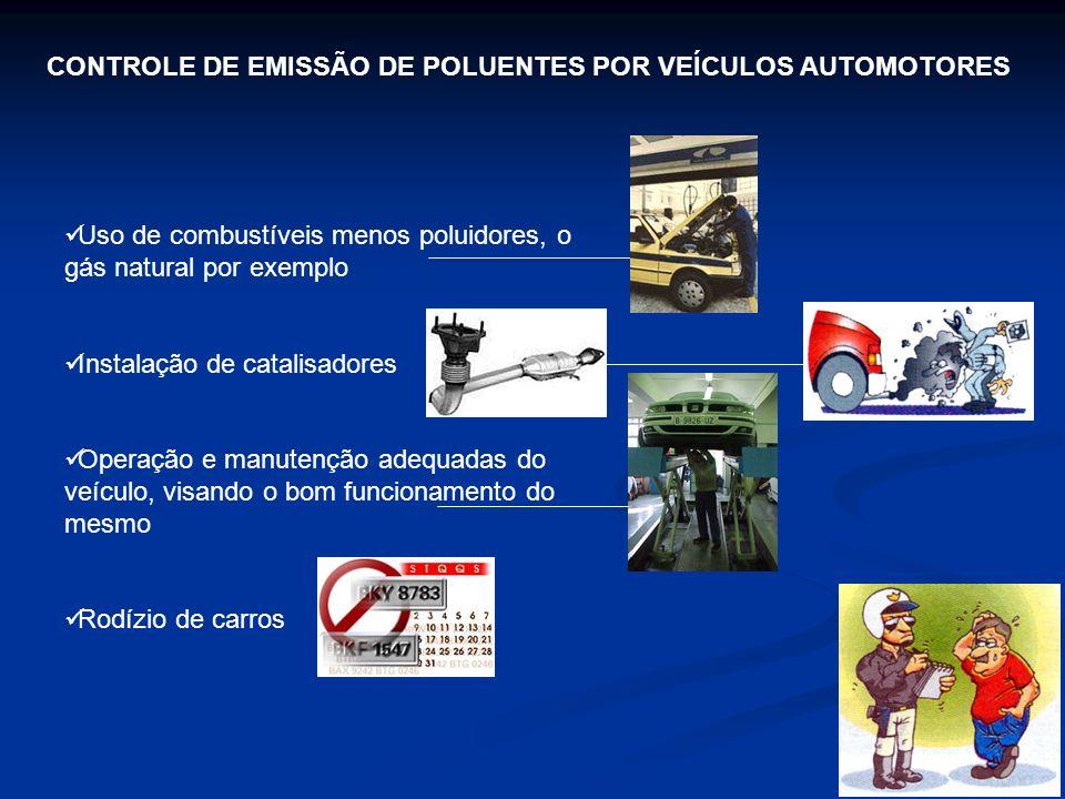 CONTROLE DE EMISSÃO DE POLUENTES POR VEÍCULOS AUTOMOTORES