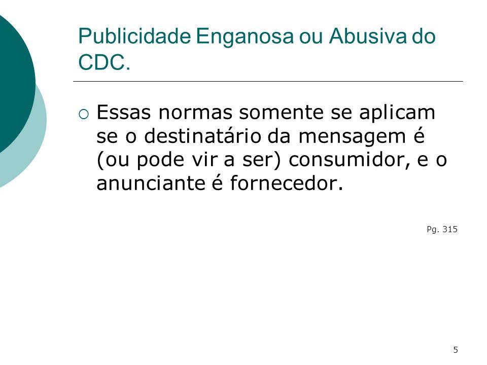 Publicidade Enganosa ou Abusiva do CDC.
