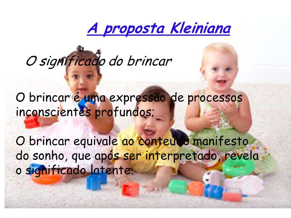 A proposta Kleiniana O significado do brincar