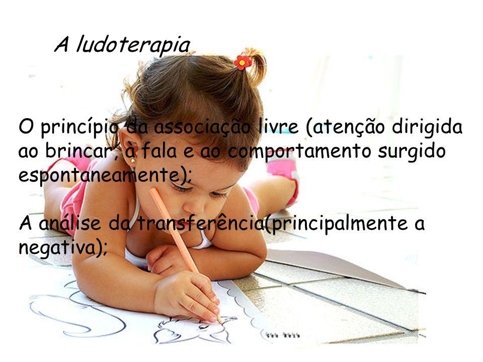 A ludoterapia O princípio da associação livre (atenção dirigida