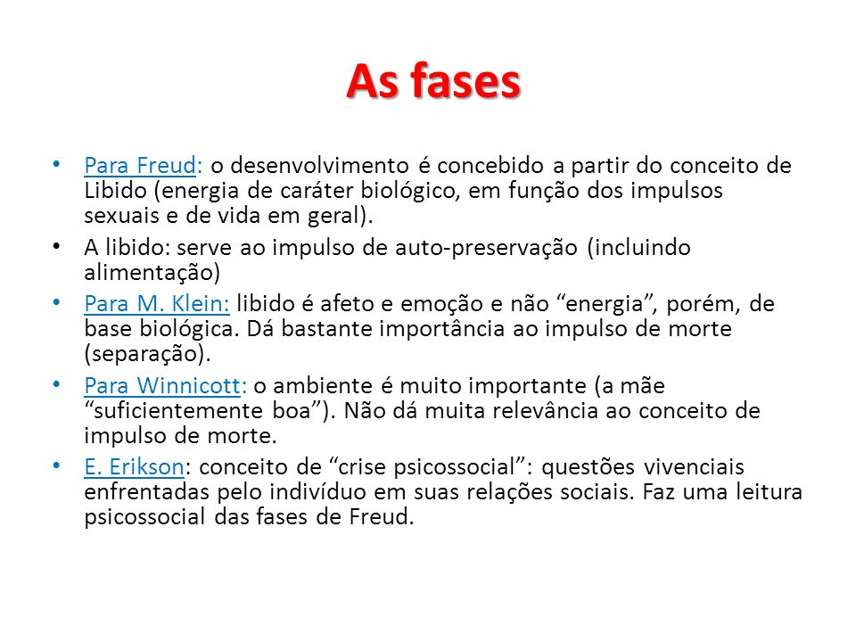 As fases