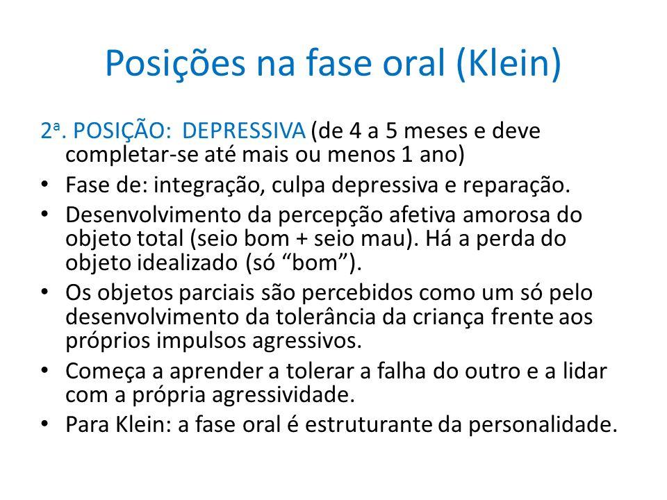 Posições na fase oral (Klein)