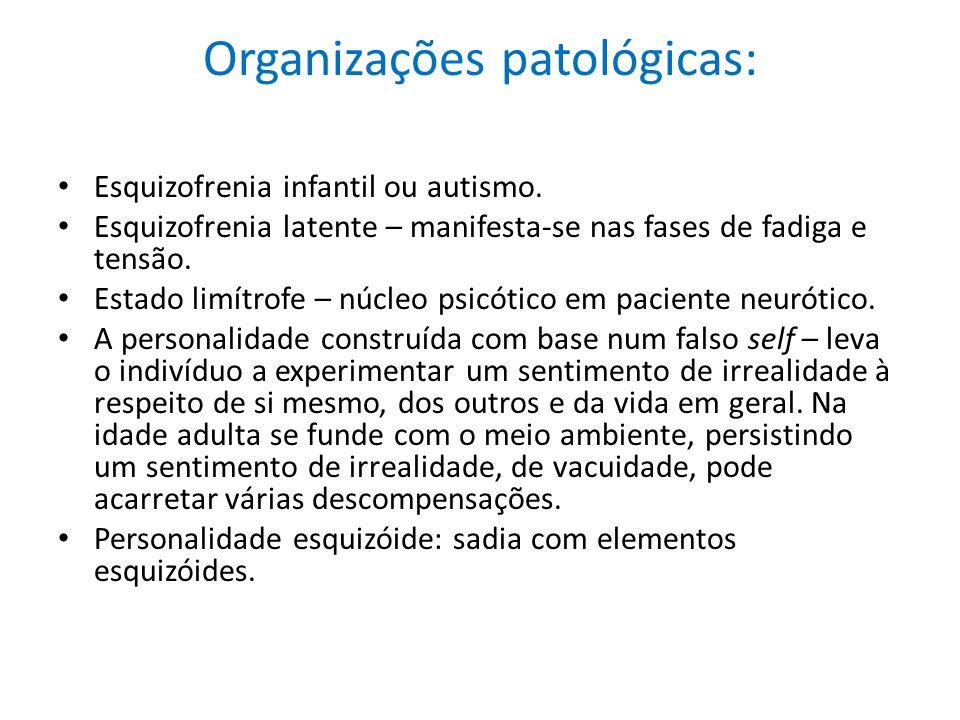 Organizações patológicas: