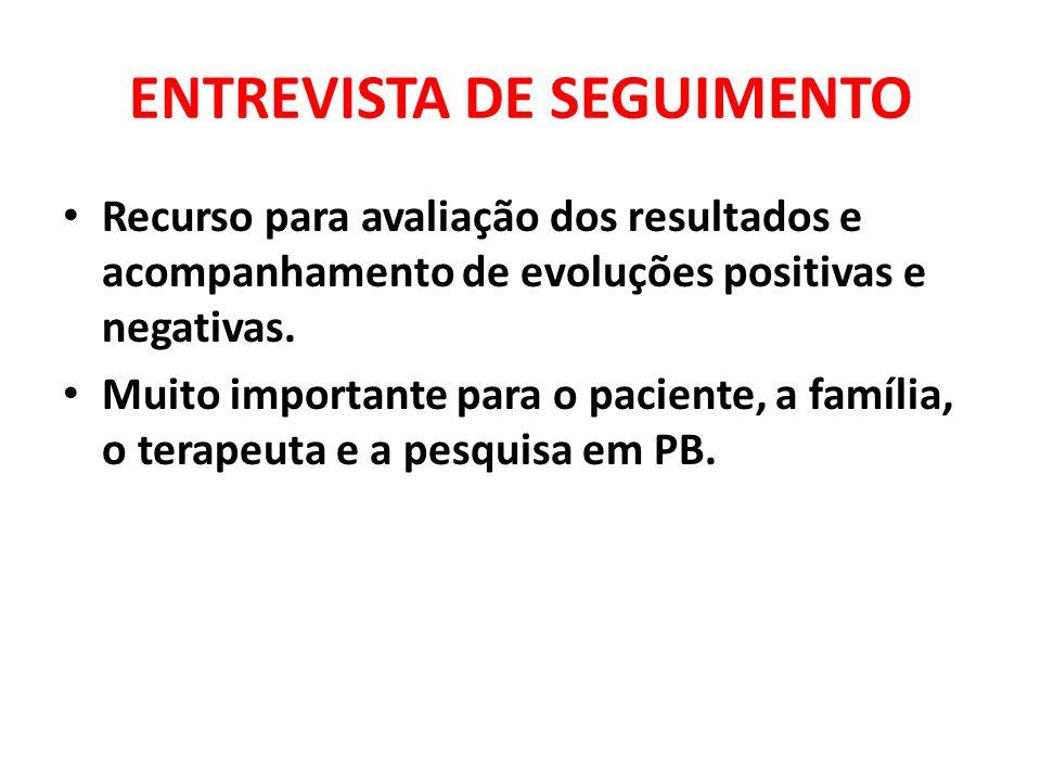 ENTREVISTA DE SEGUIMENTO