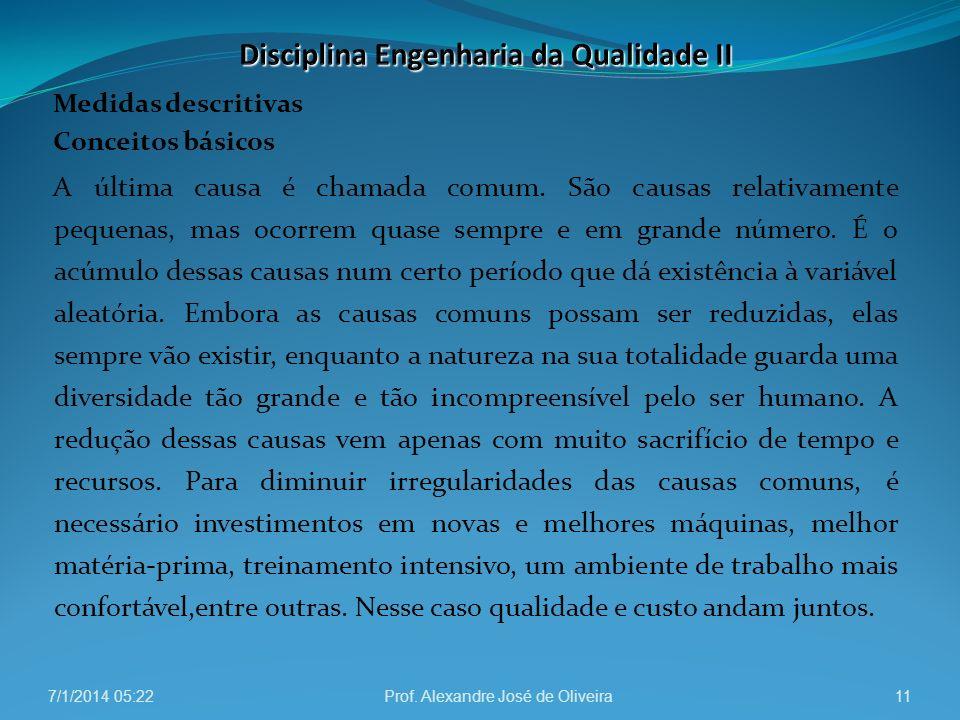 Disciplina Engenharia da Qualidade II