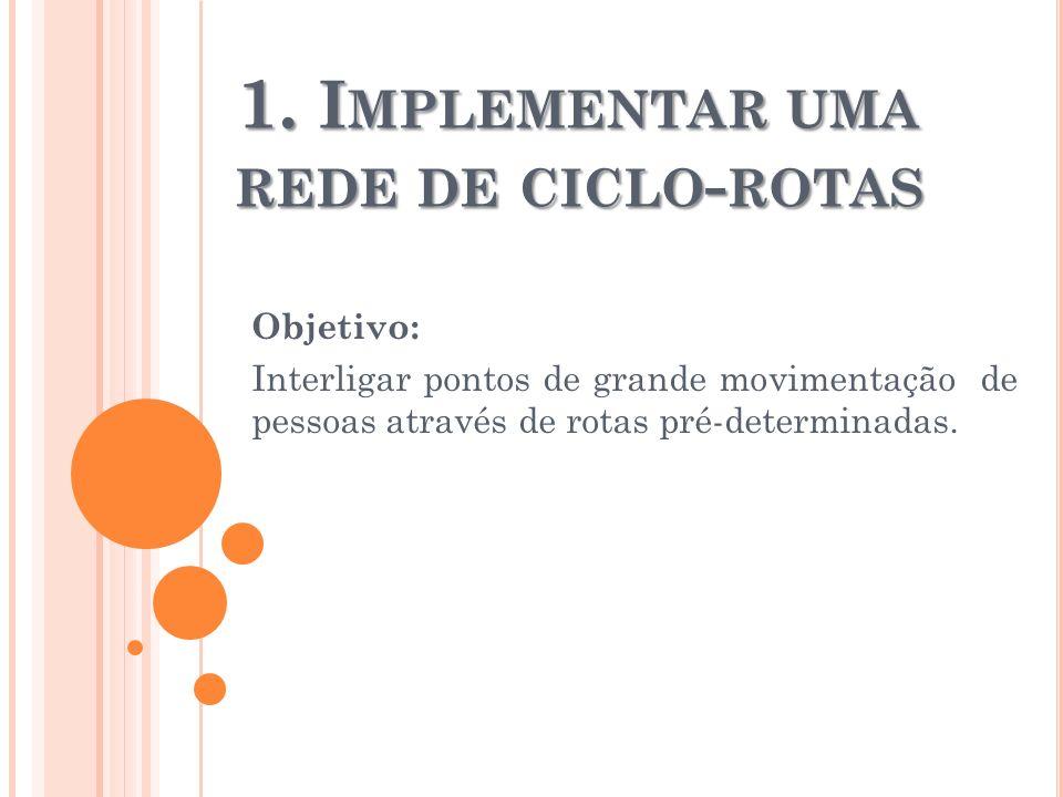 1. Implementar uma rede de ciclo-rotas