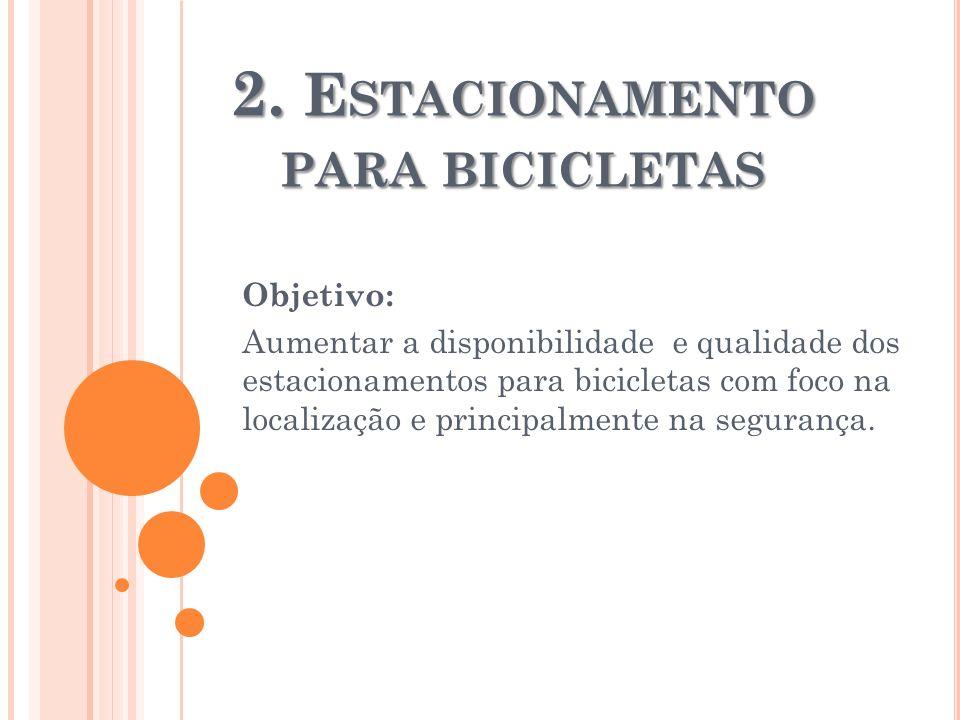 2. Estacionamento para bicicletas