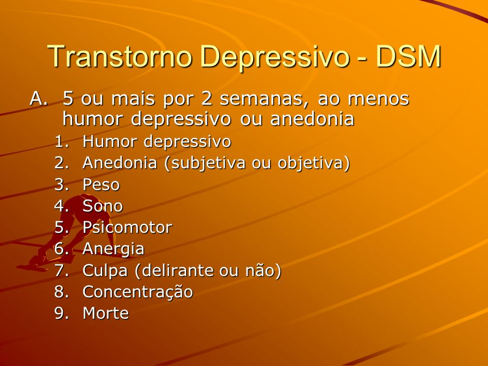 Transtorno Depressivo - DSM