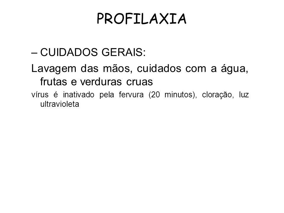 PROFILAXIA CUIDADOS GERAIS: