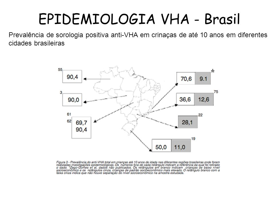 EPIDEMIOLOGIA VHA - Brasil