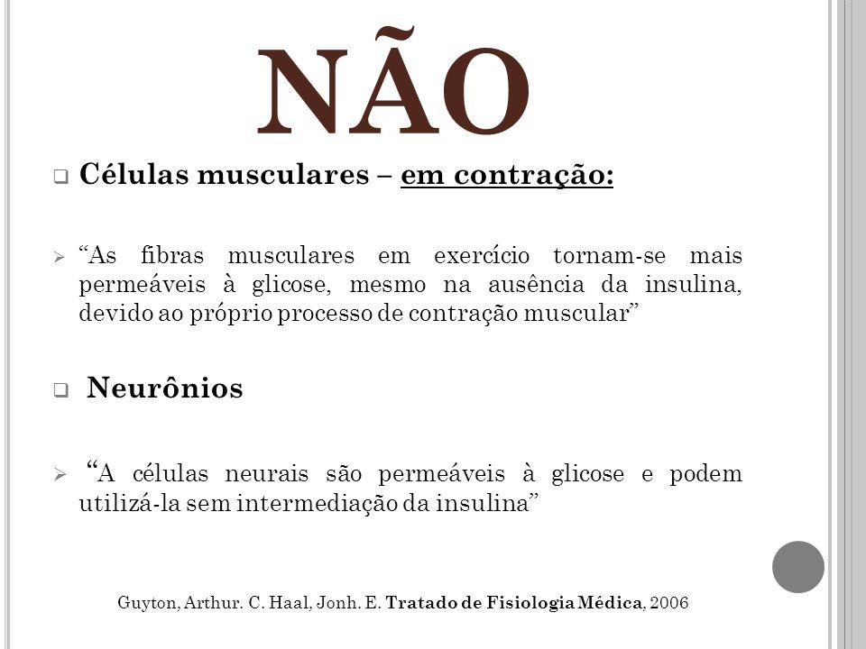 NÃO Células musculares – em contração: Neurônios