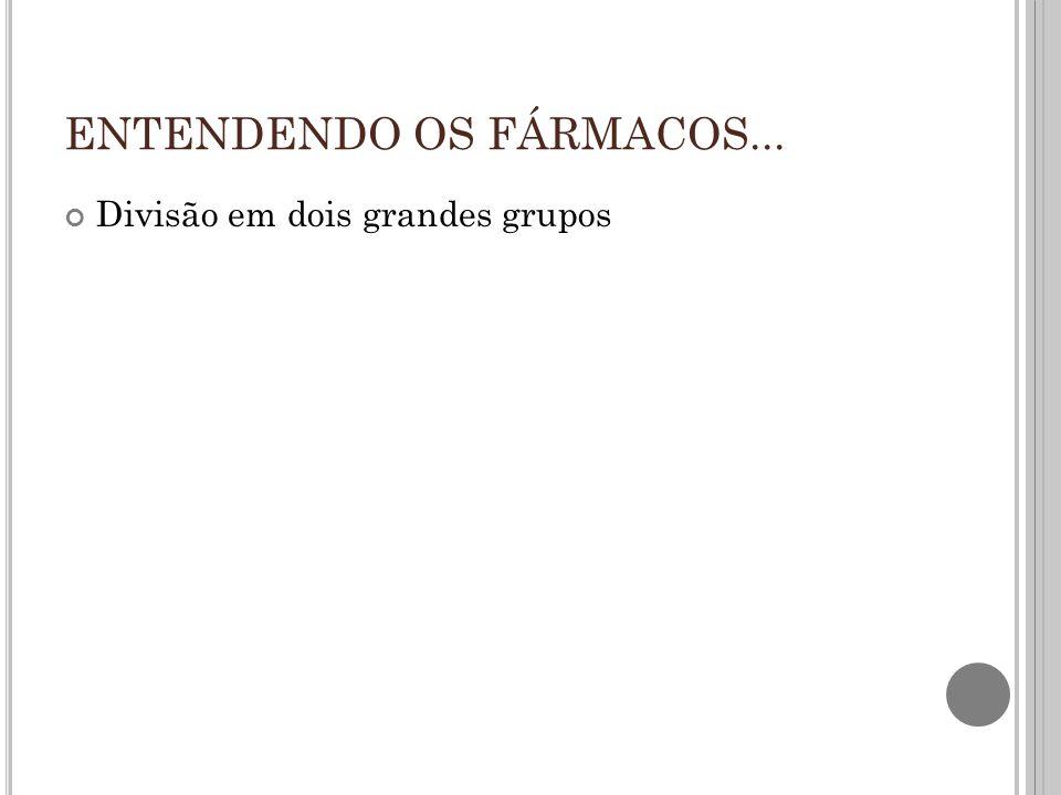 ENTENDENDO OS FÁRMACOS...