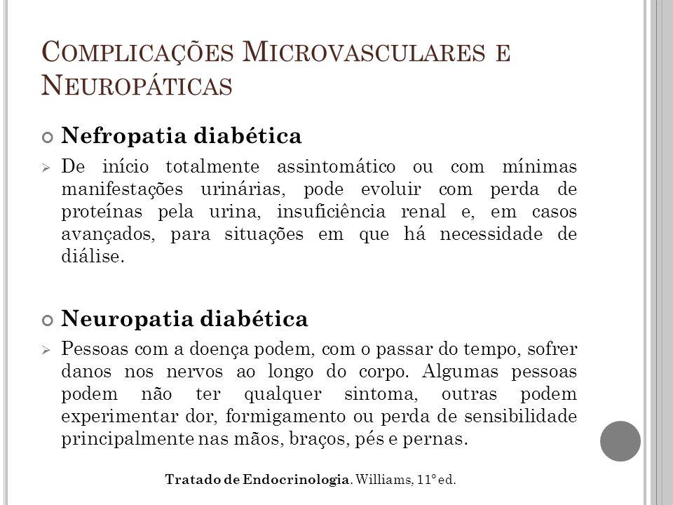 Complicações Microvasculares e Neuropáticas