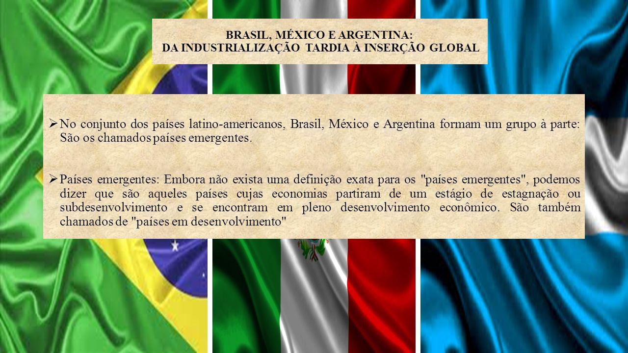 BRASIL, MÉXICO E ARGENTINA: DA INDUSTRIALIZAÇÃO TARDIA À INSERÇÃO GLOBAL