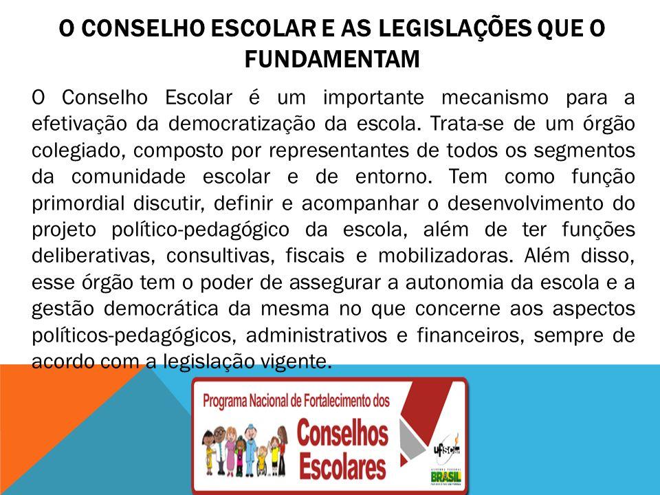 O Conselho Escolar e as legislações que o fundamentam