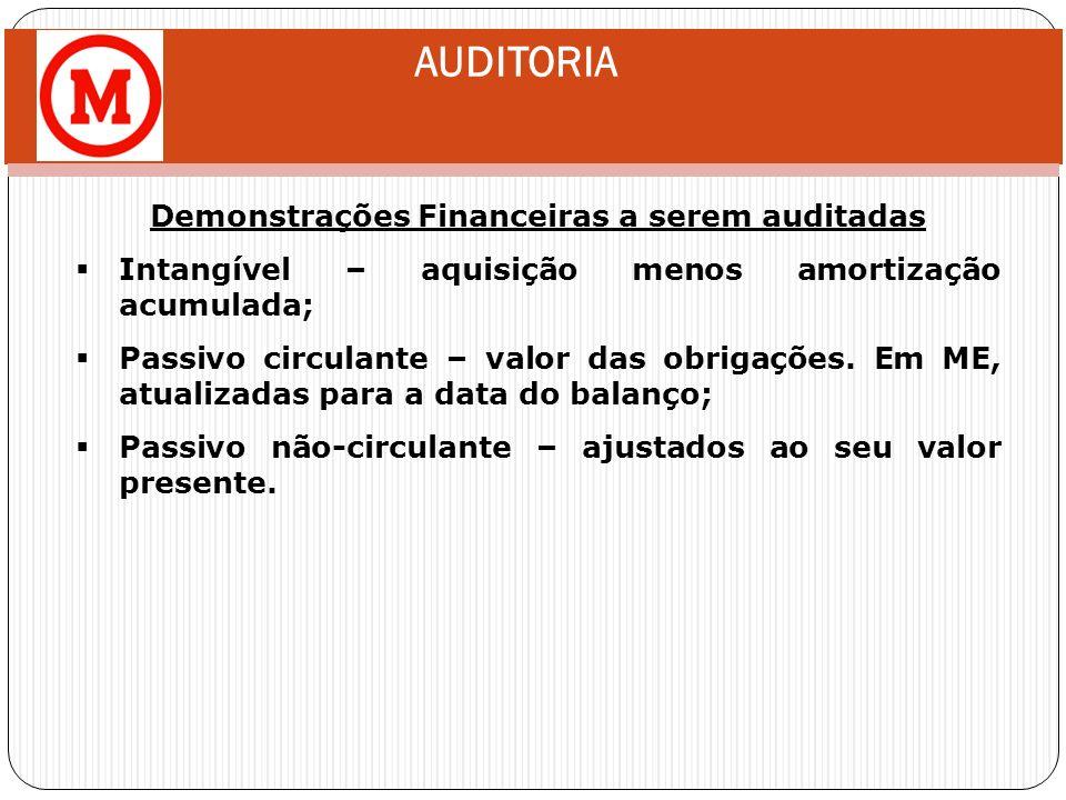 Demonstrações Financeiras a serem auditadas