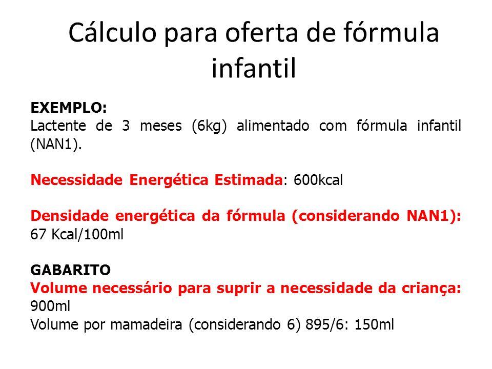Cálculo para oferta de fórmula infantil