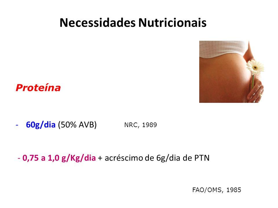 Necessidades Nutricionais