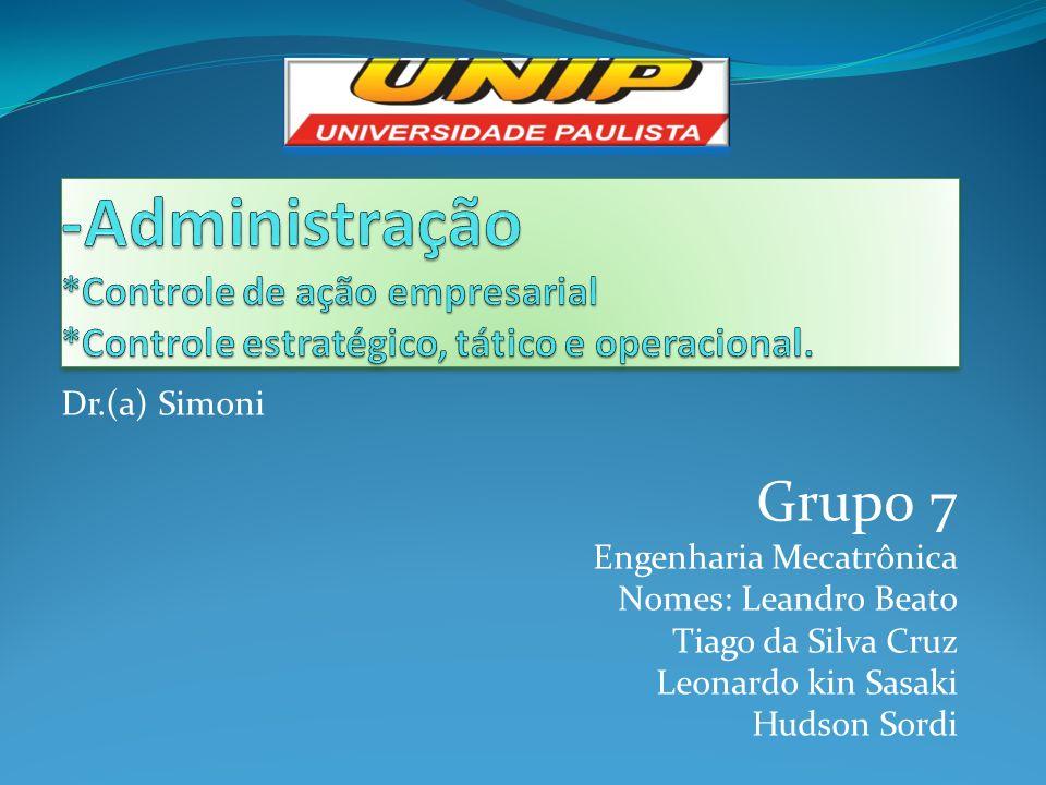 -Administração. Controle de ação empresarial