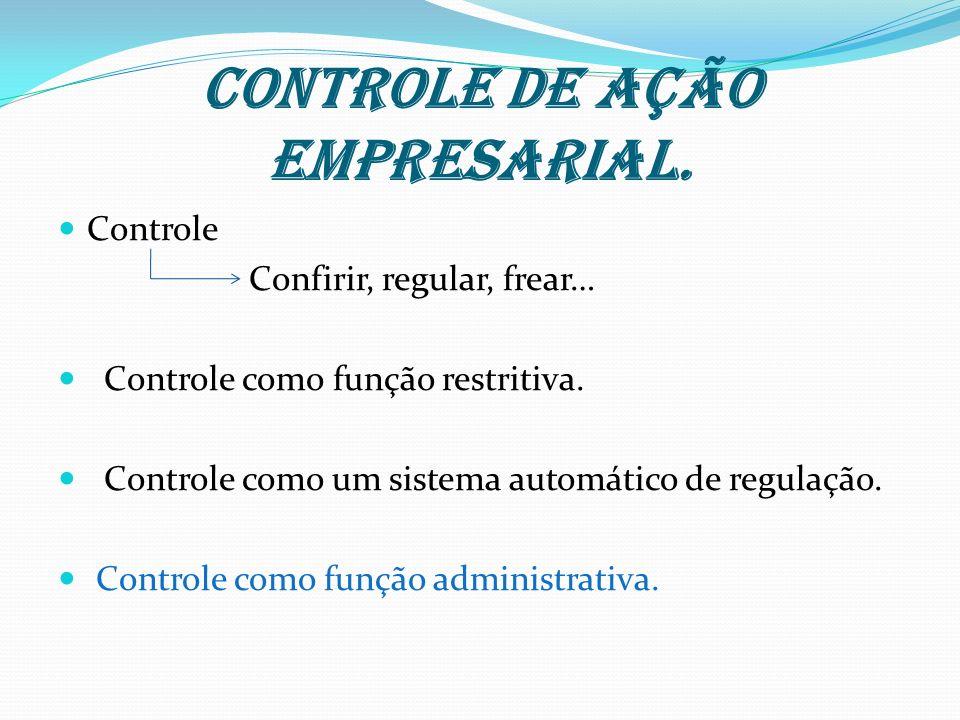 Controle de ação empresarial.