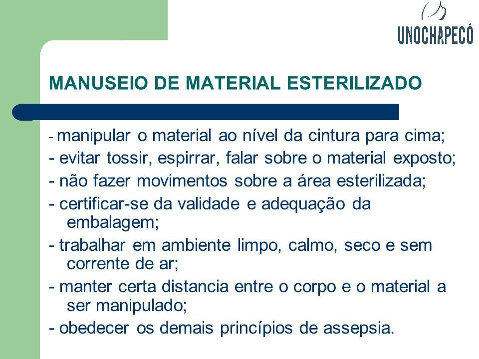 MANUSEIO DE MATERIAL ESTERILIZADO