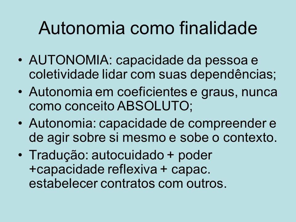 Autonomia como finalidade