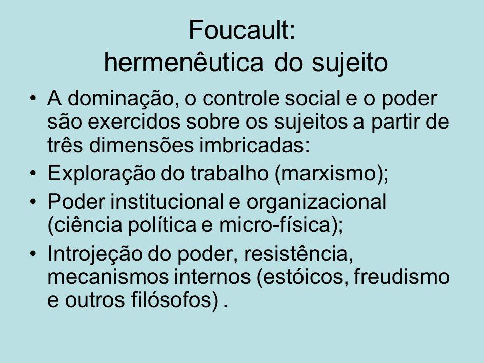 Foucault: hermenêutica do sujeito