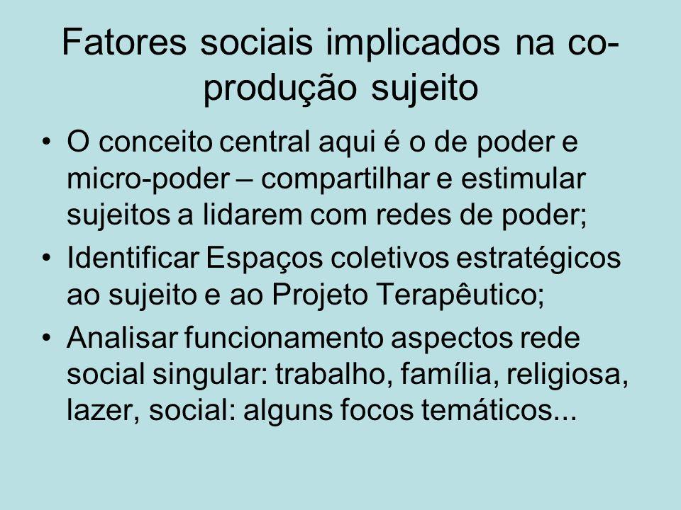 Fatores sociais implicados na co-produção sujeito