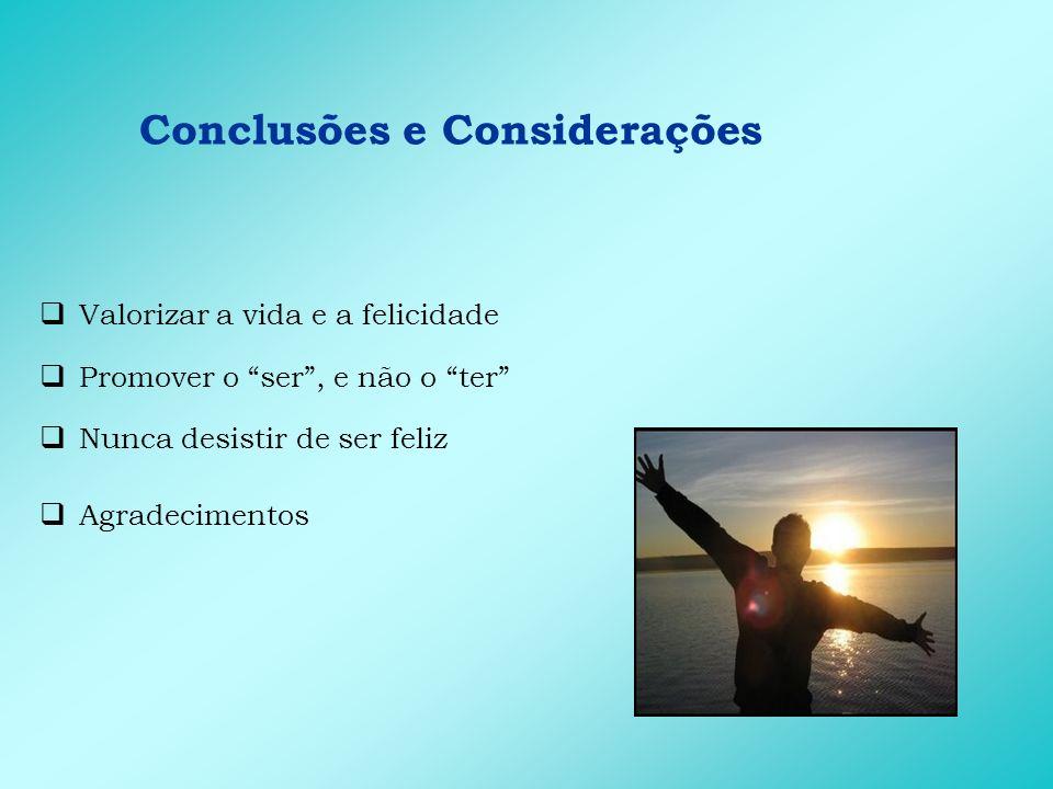 Conclusões e Considerações