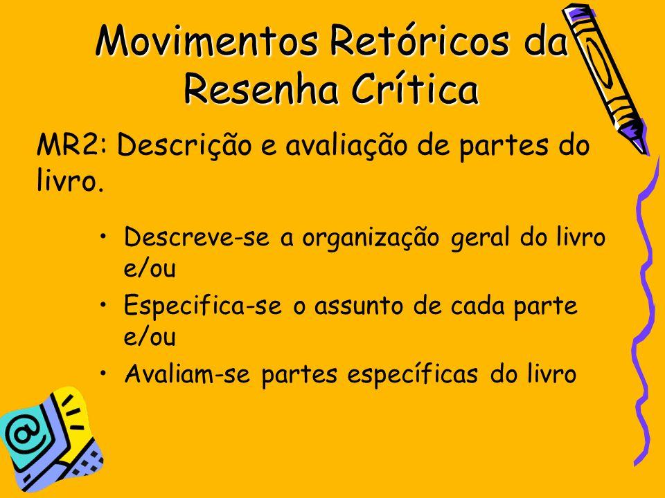 Movimentos Retóricos da Resenha Crítica