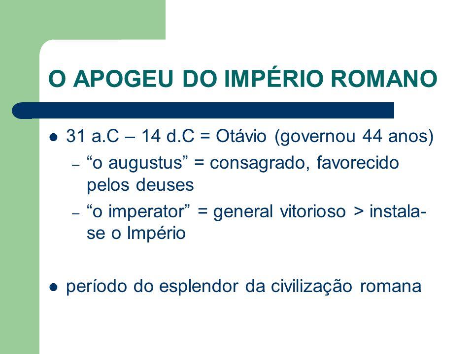 O APOGEU DO IMPÉRIO ROMANO