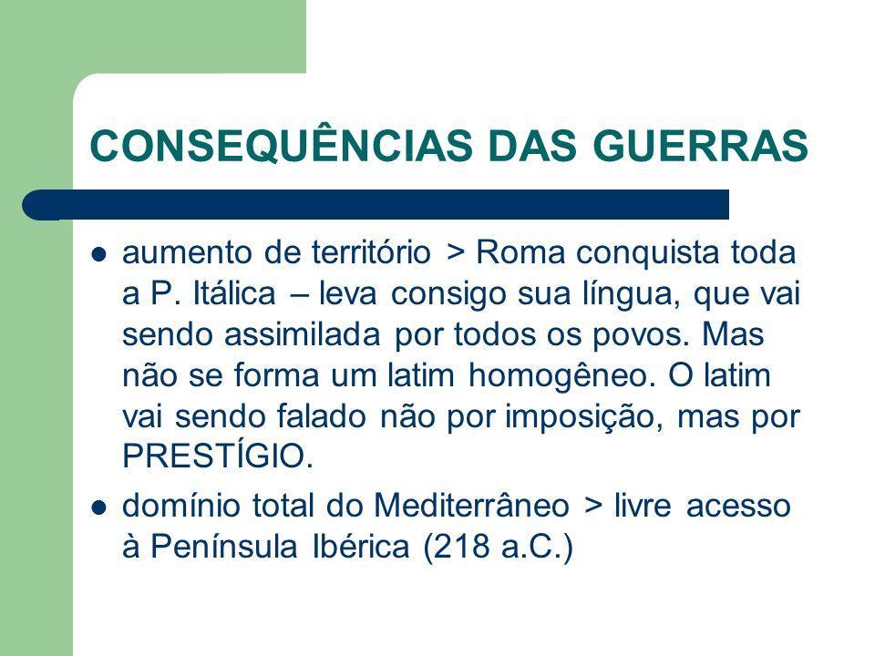 CONSEQUÊNCIAS DAS GUERRAS