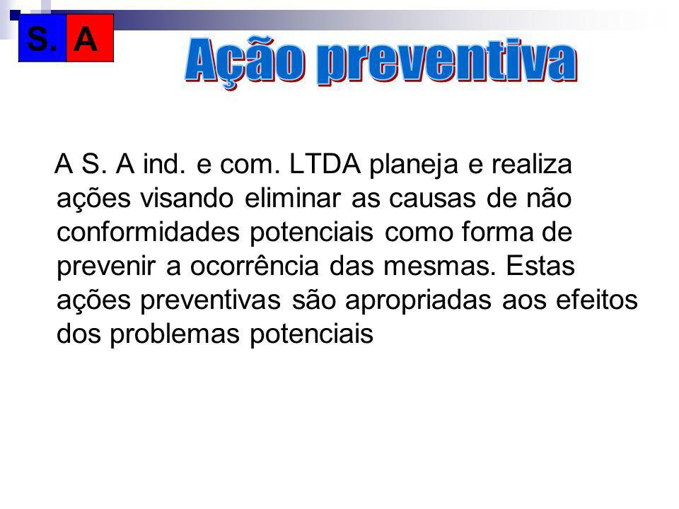 S. A. Ação preventiva.