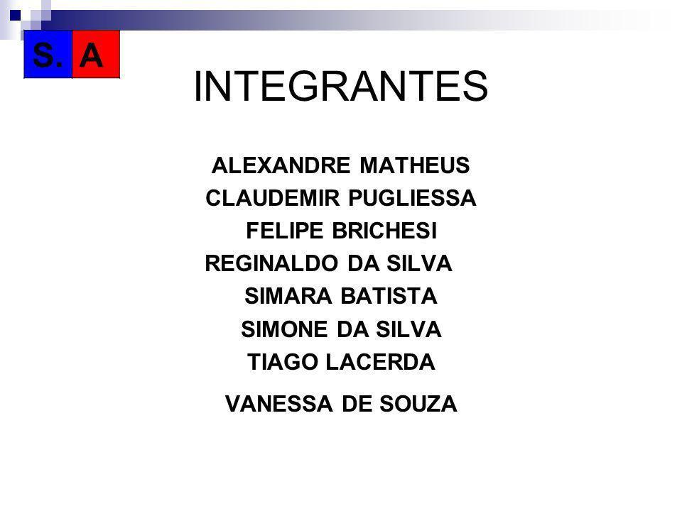 INTEGRANTES S. A ALEXANDRE MATHEUS CLAUDEMIR PUGLIESSA FELIPE BRICHESI