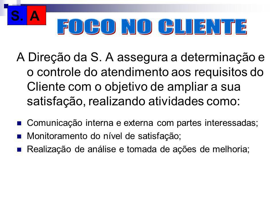 S. A. FOCO NO CLIENTE.