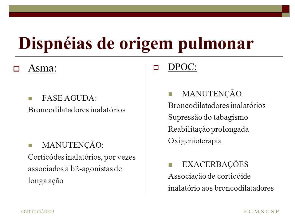 Dispnéias de origem pulmonar