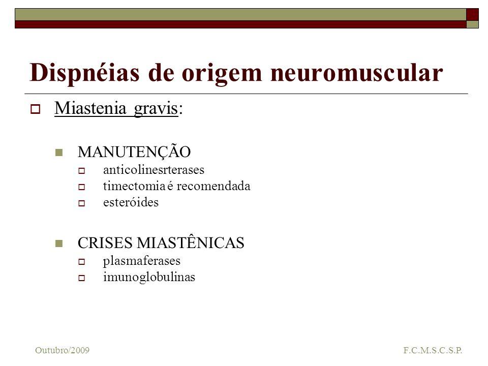 Dispnéias de origem neuromuscular