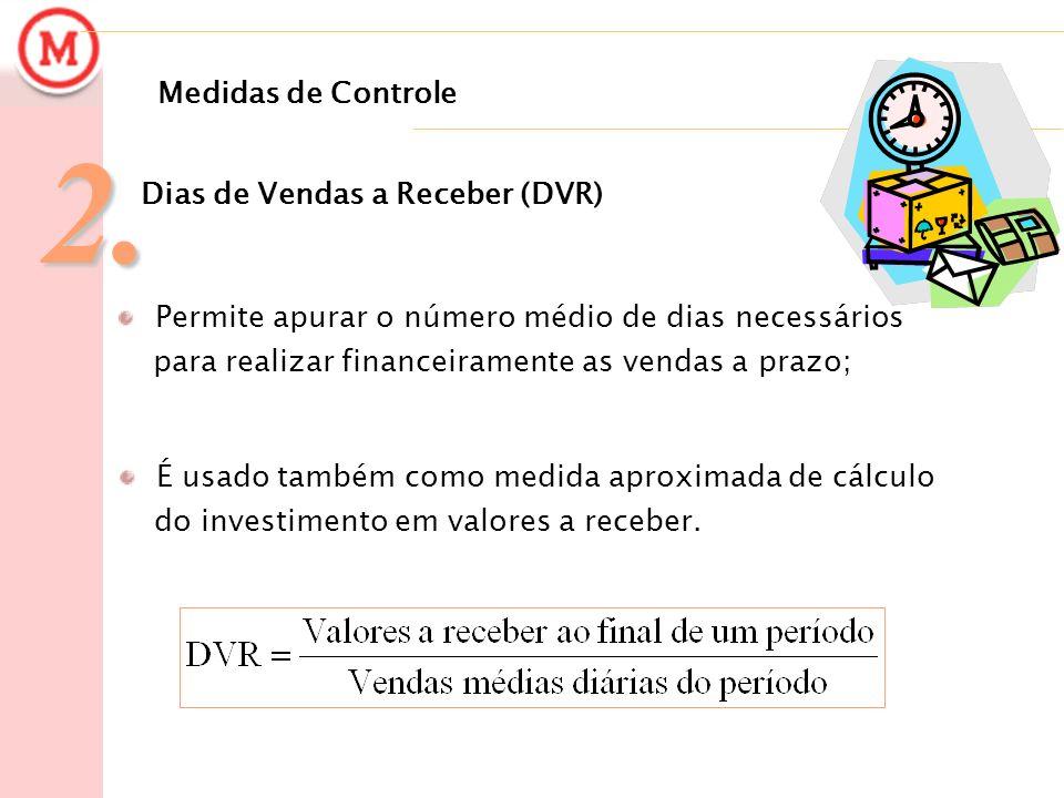 2. Medidas de Controle Dias de Vendas a Receber (DVR)