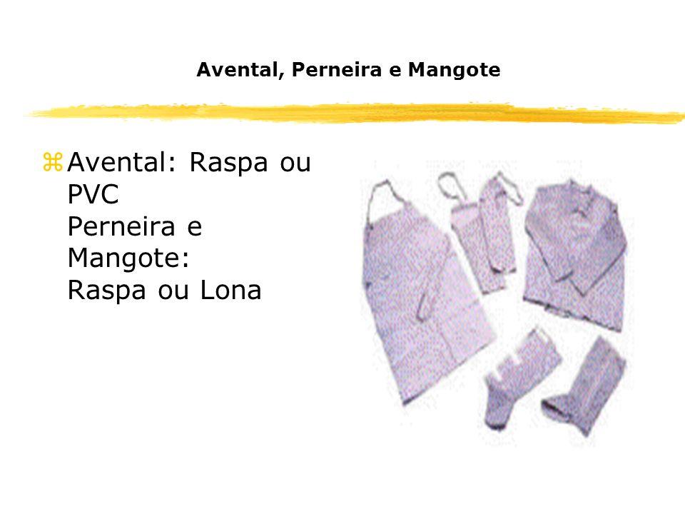 Avental, Perneira e Mangote